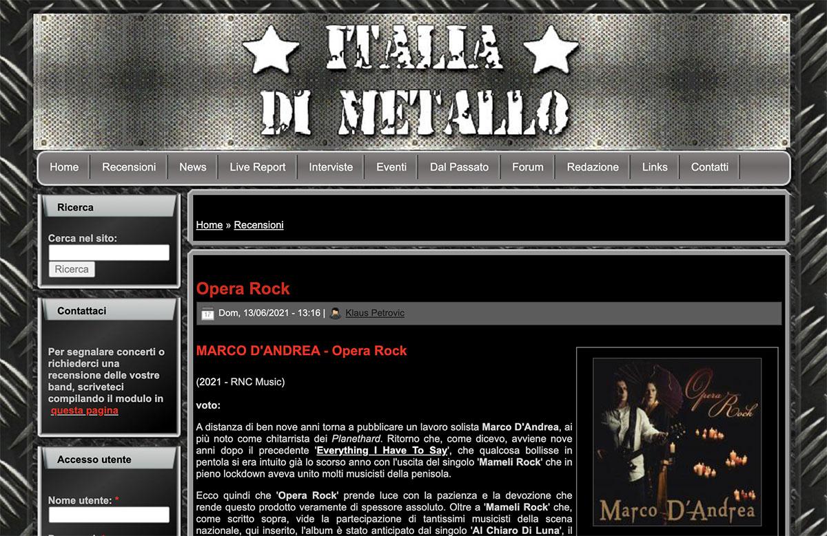 italia di metallo - opera rock